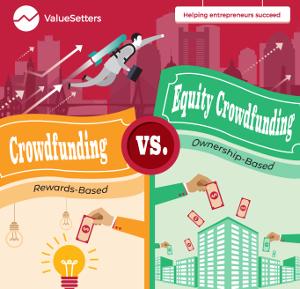 Crowdfunding vs equity crowdfunding infographic