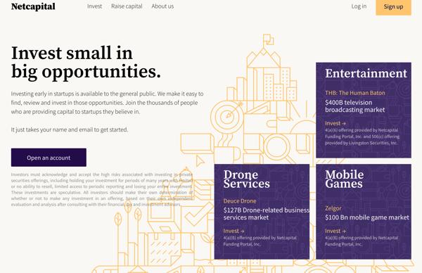Netcapital homepage